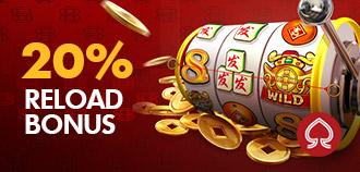 SLOTS 20% DAILY RELOAD BONUS