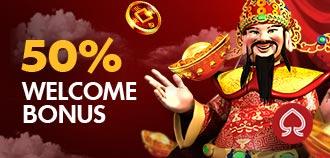 SLOTS 50% WELCOME BONUS