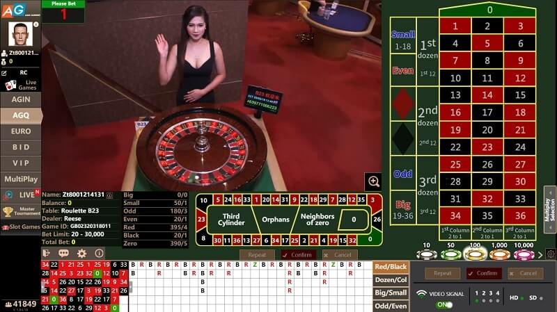 asia gaming agq roulette