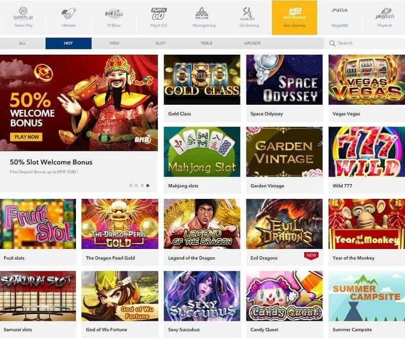 asiagaming online slots