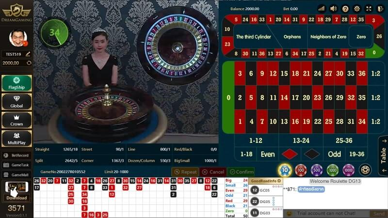 dream gaming roulette