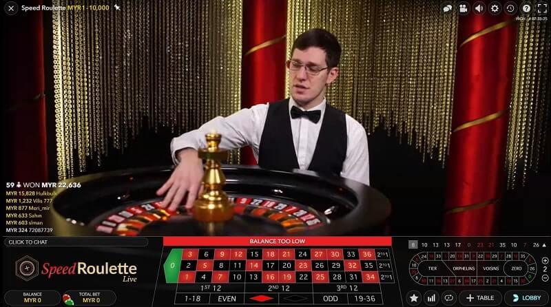 evolution gaming roulette