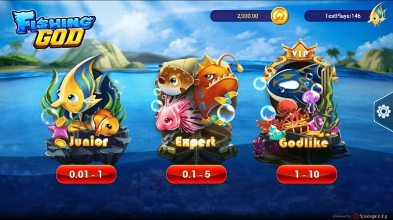 fishing god levels