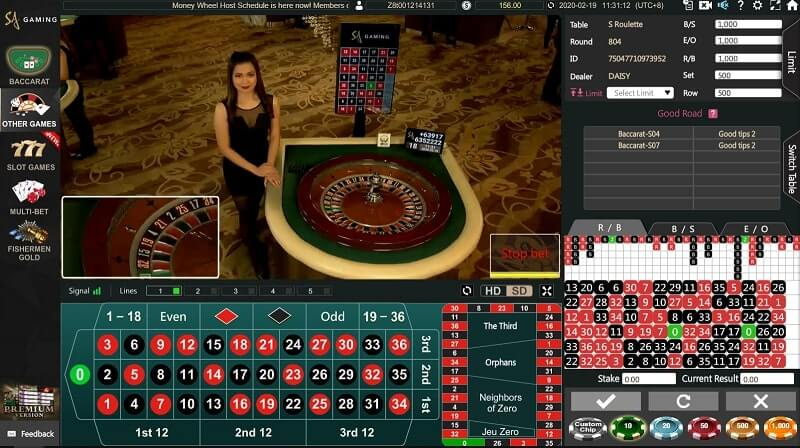 sa gaming roulette