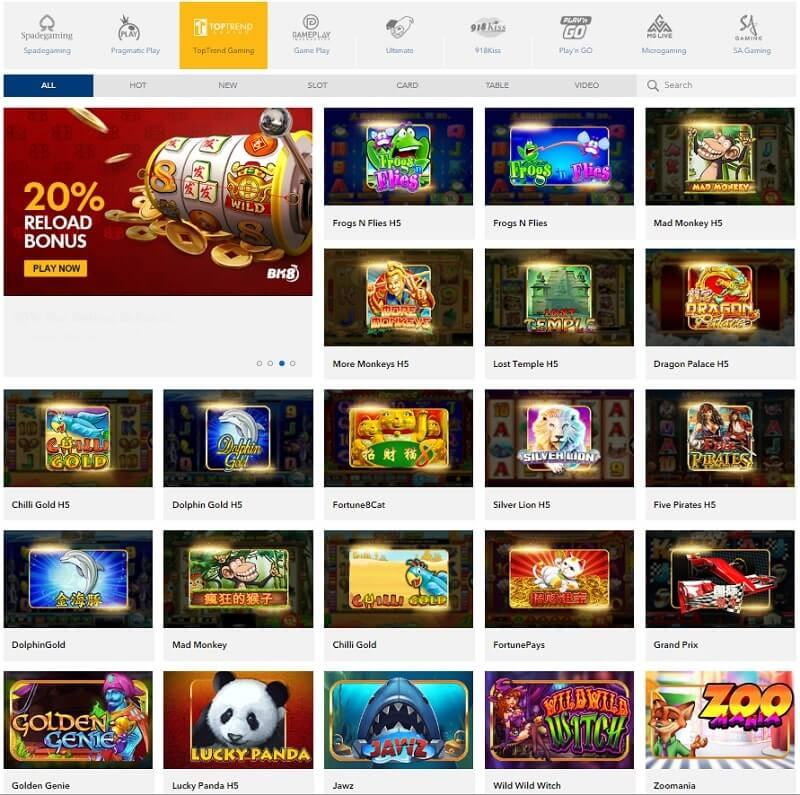 toptrend slots game