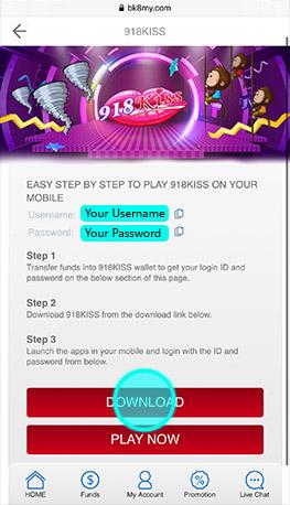 918Kiss Download Step 4