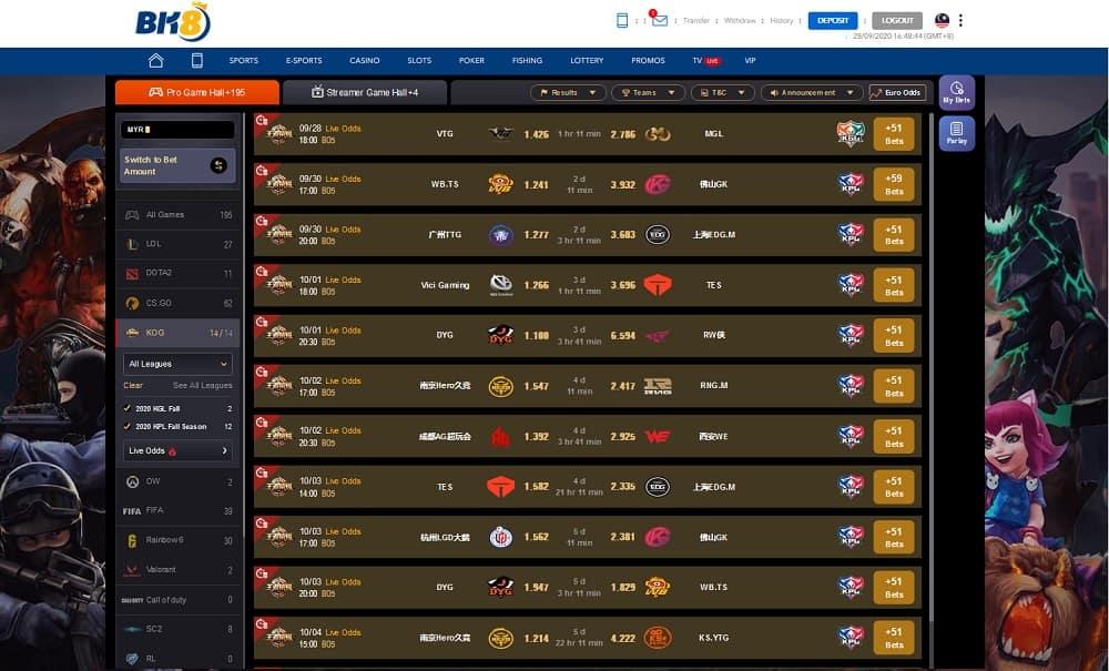 BK8Asia x IM Esports - King of Glory
