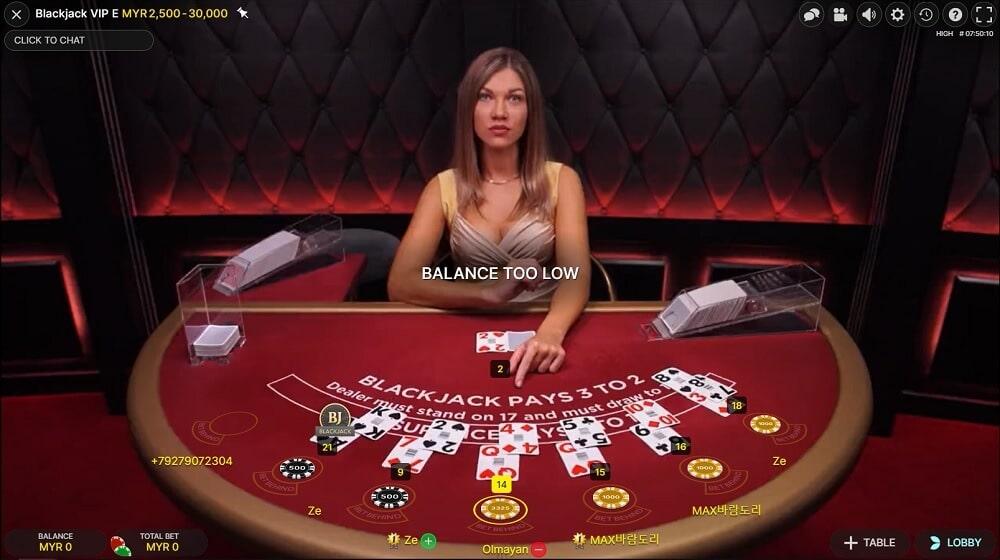 Blackjack VIP - Evolution Gaming