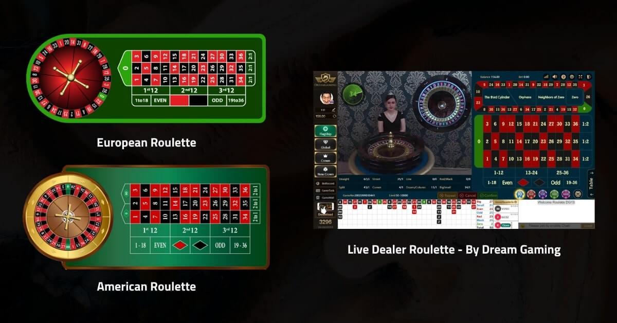 European Roulette, American Roulette, and Live Dealer Roulette
