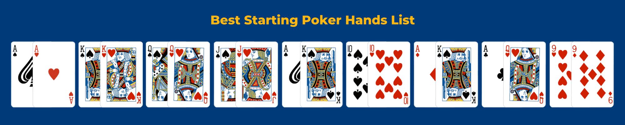 Top 10 Best Starting Poker Hands List