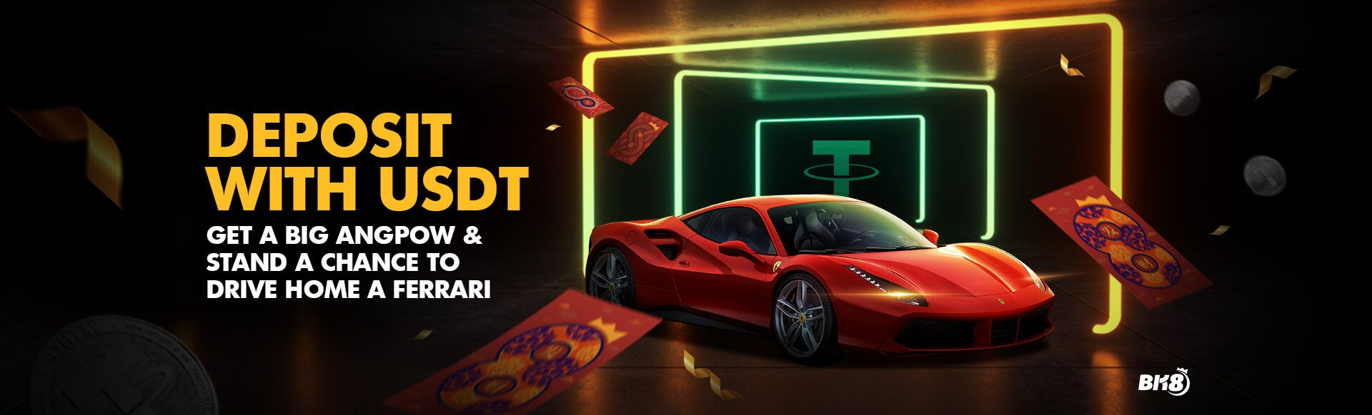 USDT Tether Betting Cryptocurrency Promotion