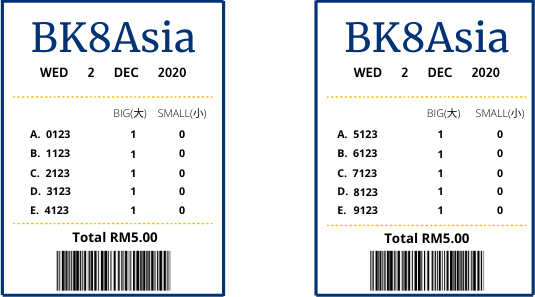 4D Lottery - Roll Back Betting Sample