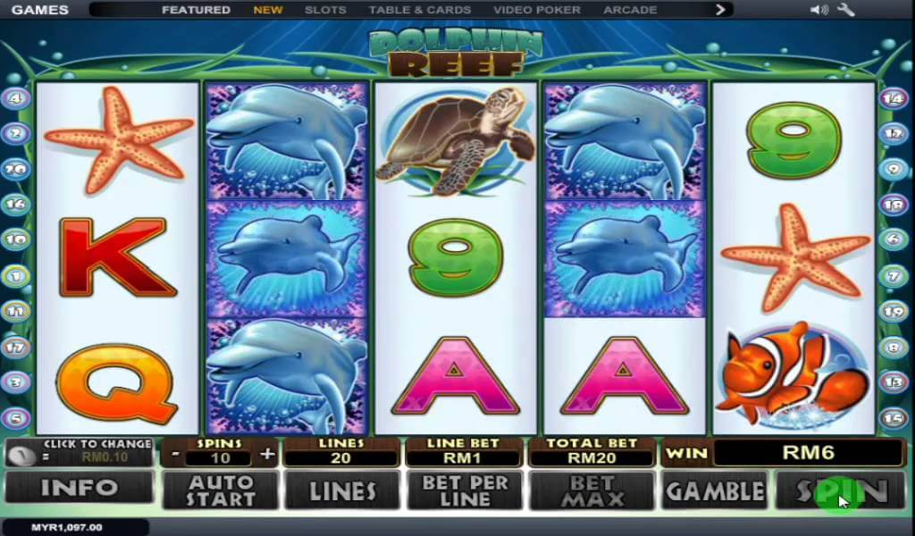 Dolphin Reef Free Spin