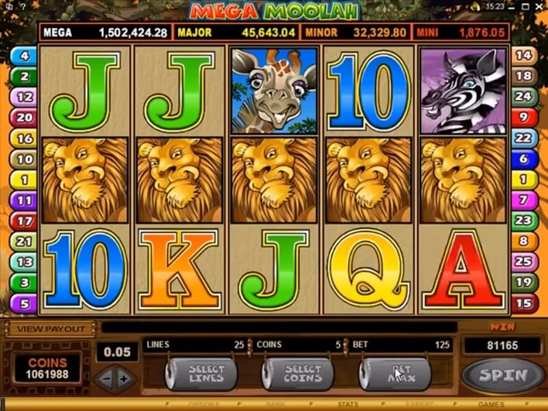 Mega Moolah Gameplay